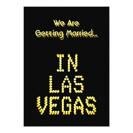Las Vegas Wedding Black And Golden Yellow Custom 13 Cm X