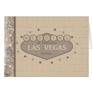 Las Vegas Wedding Card