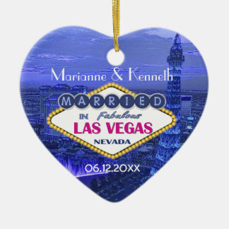 Las Vegas Wedding Ceramic Heart Decoration