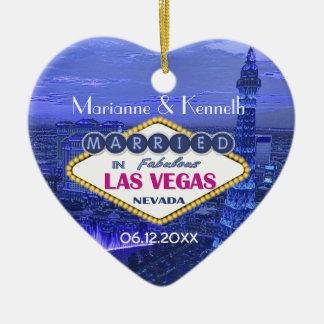 Las Vegas Wedding Ceramic Heart Decoration