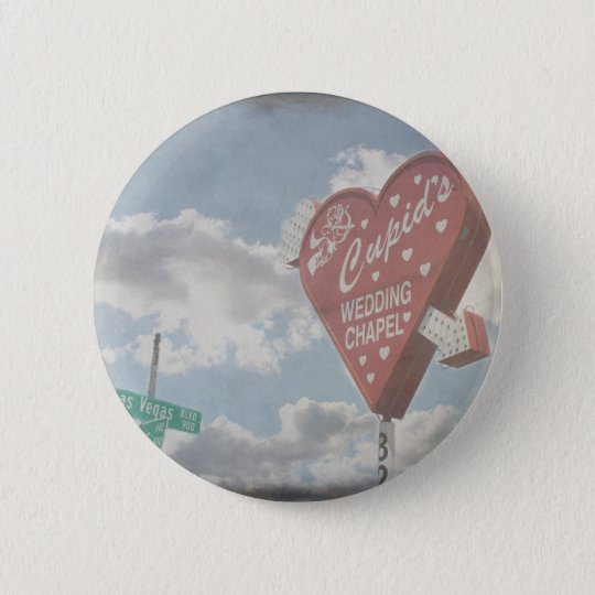Las Vegas Wedding Chapel 6 Cm Round Badge