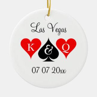 Las Vegas wedding custom monogram Christmas tree Christmas Ornament