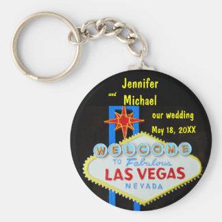 Las Vegas Wedding Date Key Chain
