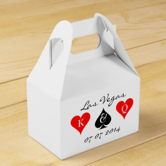 Las Vegas wedding favor box with monogram suits Wedding Favour Box