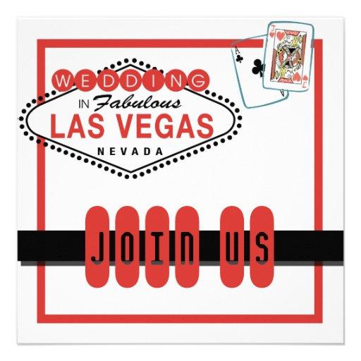 Las Vegas Wedding Invitation 525 Square Invitation Card