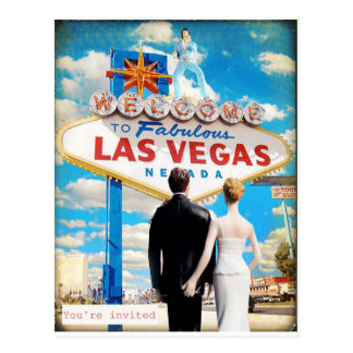 Las Vegas Wedding Invitation Postcard