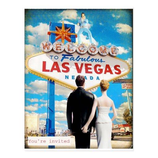 Las Vegas Wedding Invitation Post Card