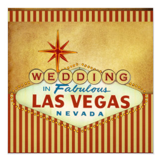 Las Vegas Wedding Invitation Template