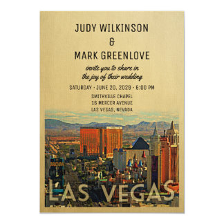 Las Vegas Wedding Invitation Vintage Vegas Invite