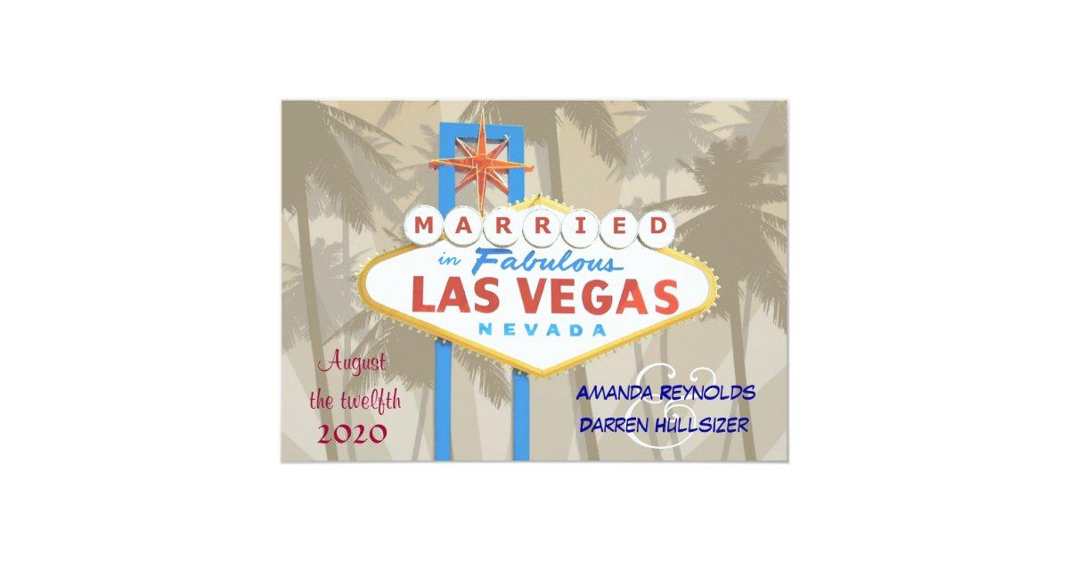 Las Vegas Wedding Invitations