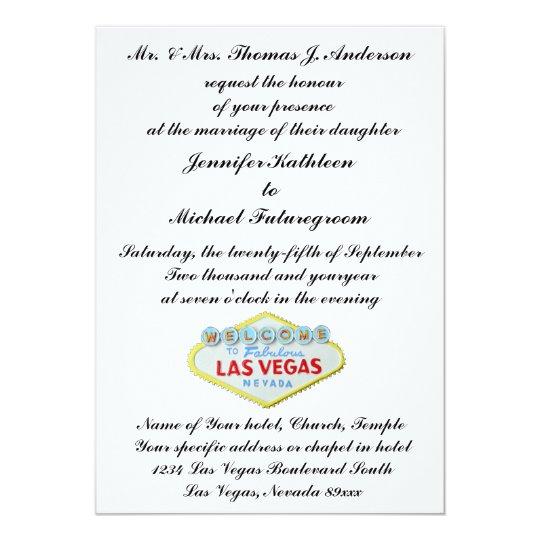 Las Vegas Wedding Invite Formal