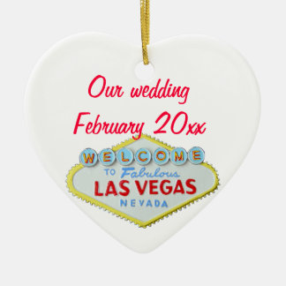 Las Vegas Wedding Memento Christmas Ornament