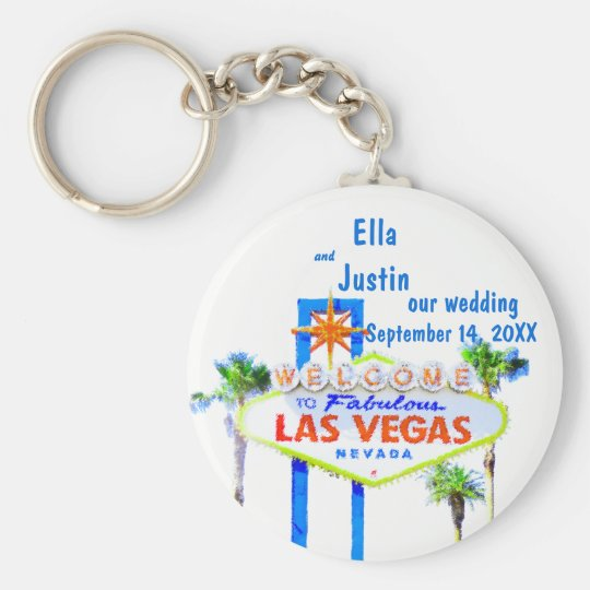 Las Vegas Wedding Memento Key Ring
