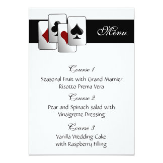 Las vegas wedding menu cards 13 cm x 18 cm invitation card