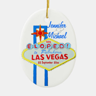 Las Vegas Wedding Photo Ornament