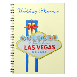 Las Vegas Wedding Planner Spiral Notebook