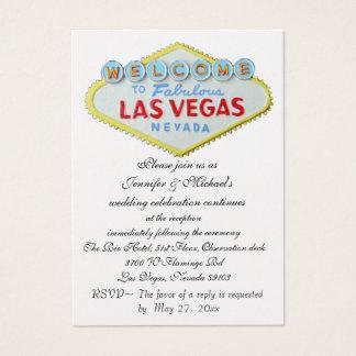 Las Vegas Wedding Reception Enclosure Business Card