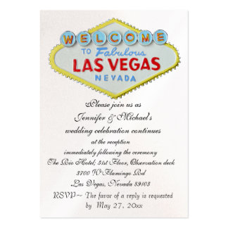 Las Vegas Wedding Reception Enclosure Pack Of Chubby Business Cards