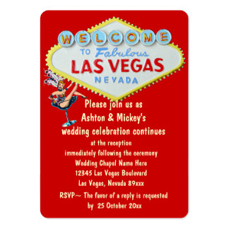 Las Vegas Wedding Reception Invitation Large Business Cards (Pack Of 100)