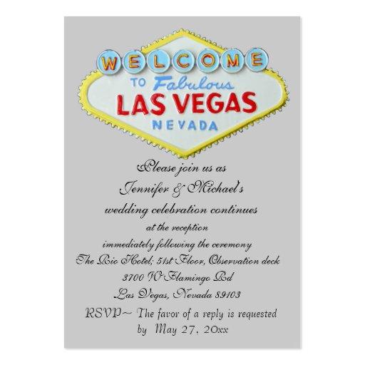 Las Vegas Wedding Reception Invitation Enclosure Business Cards