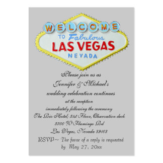 Las Vegas Wedding Reception Invitation Enclosure Pack Of Chubby Business Cards