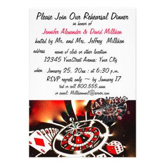 Las Vegas Wedding Rehearsal Dinners Personalized Invites