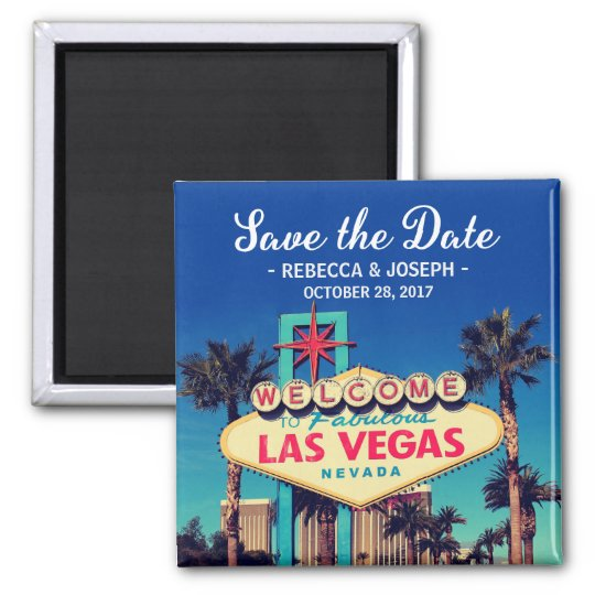 Las Vegas Wedding Retro Photo Save the Date