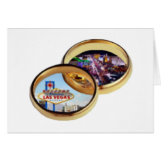 Las Vegas Wedding Rings Card