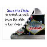 Las Vegas Wedding Save Date : walk down the aisle