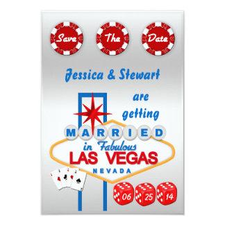 Las Vegas Wedding Save The Date 9 Cm X 13 Cm Invitation Card
