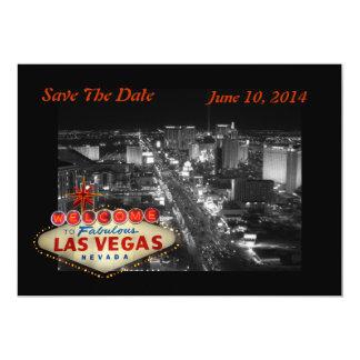 Las Vegas Wedding Save The Date Card