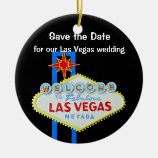 Las Vegas Wedding Save the Date Christmas Ornament