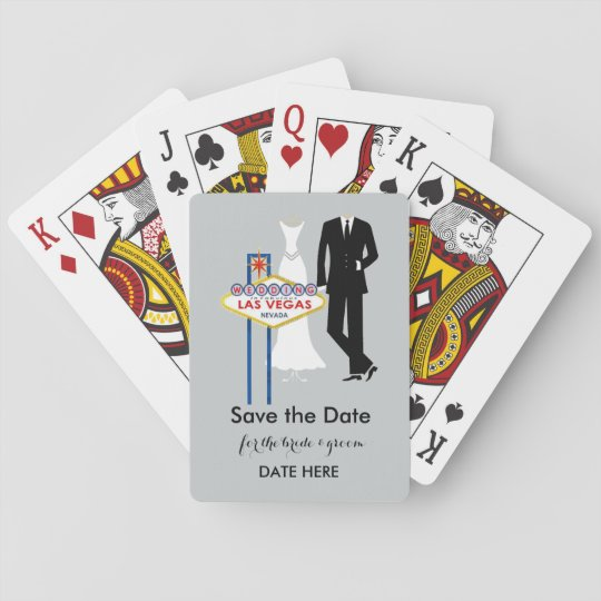 "Las Vegas Wedding ""Save the Date"" Playing Cards"