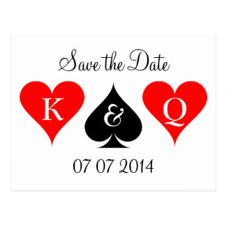 Las Vegas wedding save the date postcards