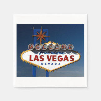 Las Vegas Wedding Sign Day Disposable Serviettes