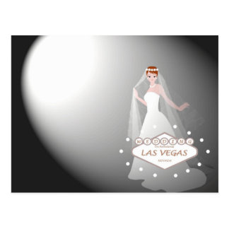 "Las Vegas Wedding ""Spotlight on Bride"" Postcard"