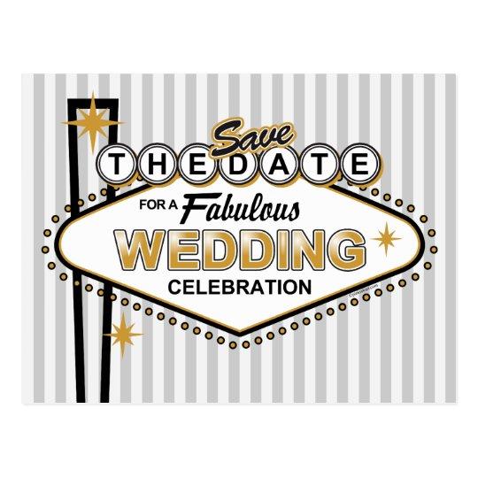 Las Vegas Wedding STD Postcard