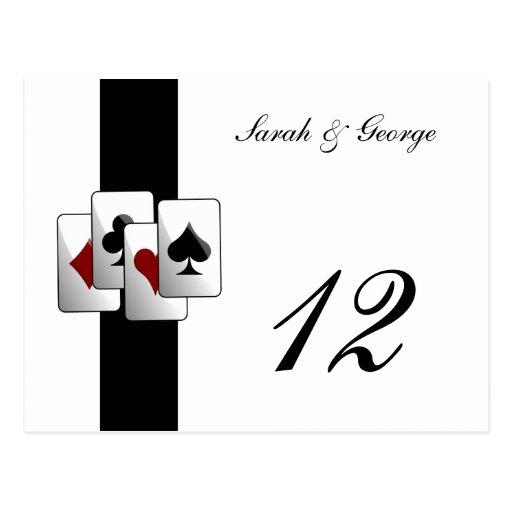 Las Vegas Wedding Table numbers Post Card