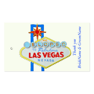 Las Vegas Wedding Thank you Gift Tag Pack Of Standard Business Cards