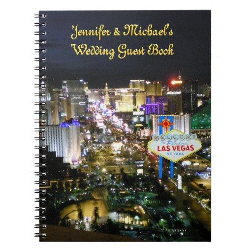 Las Vegas Weddings Guest Book Spiral Note Book
