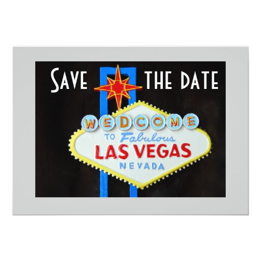 Las Vegas Weddings Save the Date Card