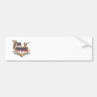 Las Vegas Welcome Sign Car Bumper Sticker