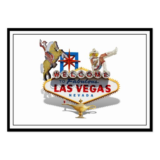 Las Vegas Welcome Sign Business Card Templates