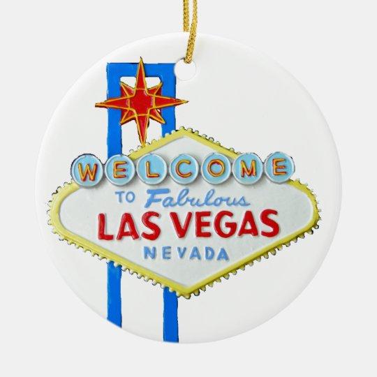 Las Vegas Welcome Sign Christmas Ornament