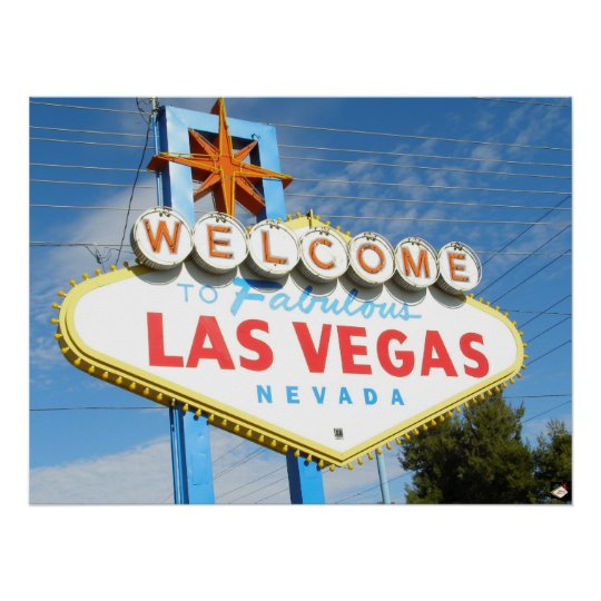Las Vegas Welcome Sign Closeup Poster Print