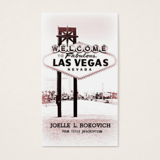 Las Vegas Welcome Sign Generic Business Card