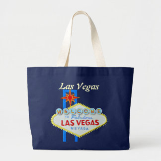 Las Vegas Welcome Sign Large Tote Bag