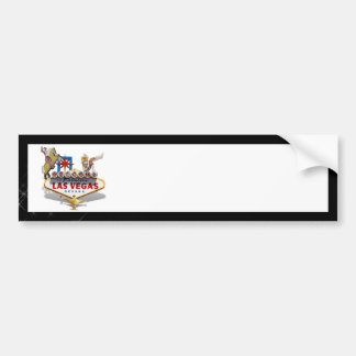 Las Vegas Welcome Sign On Starry Background Bumper Sticker