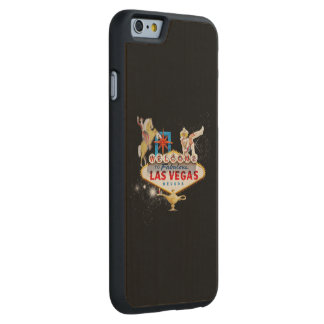Las Vegas Welcome Sign On Starry Background Carved Maple iPhone 6 Case