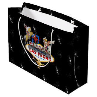 Las Vegas Welcome Sign On Starry Background Large Gift Bag